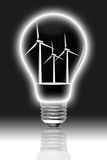 ampoule à l'intérieur de vent de turbines Image libre de droits