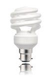 Ampoule économiseuse d'énergie avec la baïonnette   Photo stock