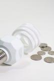 Ampoule économiseuse d'énergie et modification de rechange Photographie stock libre de droits