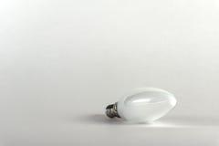 Ampoule économiseuse d'énergie Méthode moderne d'éclairage Image stock