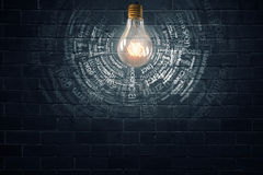 Ampoule électrique lumineuse Photo libre de droits
