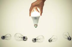 Ampoule aboutie photographie stock libre de droits