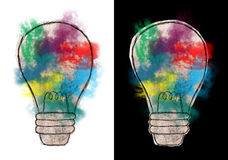 Ampoule abstraite, idées, buts, succès illustration stock