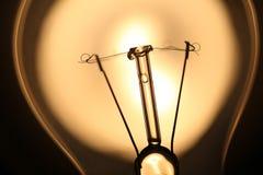 Ampoule au-dessus de lumière du soleil Image libre de droits