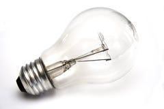 Ampoule au fond blanc Photographie stock