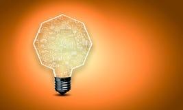 Ampoule avec des croquis Photos stock