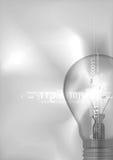 Ampoule avec des nombres numériques Image stock