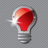 Ampoule avec la plaque de métal Photos libres de droits