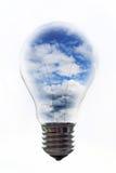 Ampoule avec le ciel Images stock