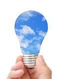 Ampoule avec le ciel photo libre de droits
