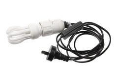 Ampoule avec le cordon Photo stock