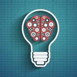Ampoule avec le nuage de cerveau Photo stock