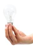 Ampoule blanche Photo libre de droits