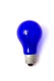 Ampoule bleue Images libres de droits