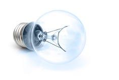 Ampoule bleue d'isolement sur le blanc Photos libres de droits