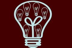 Ampoule colorée Photographie stock libre de droits
