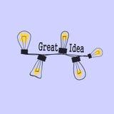 Ampoule comme concept d'idée et de travail d'équipe illustration stock