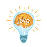 Ampoule créative Photo libre de droits