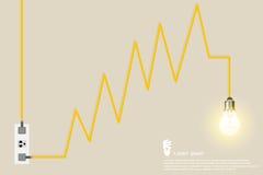 Ampoule créative Images stock