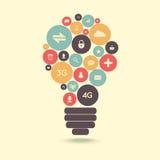 Ampoule créative illustration stock