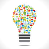 Ampoule créative d'icône d'affaires Photographie stock