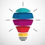 Ampoule découpée en tranches colorée Photos libres de droits