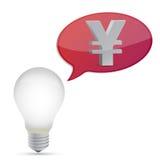 Ampoule d'économie d'énergie de Yens illustration libre de droits