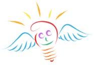 Ampoule d'ange illustration stock