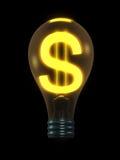 Ampoule d'argent Image stock