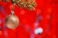 Ampoule d'or de Noël Image libre de droits