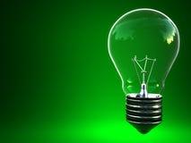 Ampoule d'eco de feu vert Photographie stock