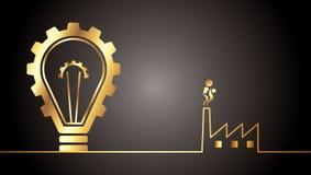 Ampoule d'Envirinmental Photographie stock libre de droits