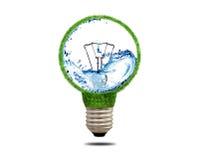 Ampoule d'herbe verte avec de l'eau à l'intérieur photos libres de droits