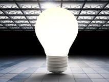 Ampoule dans l'usine Images stock