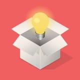 Ampoule dans la boîte Images libres de droits