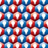 Ampoule dans la configuration hexagonale Photo stock