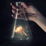 Ampoule dans le tube de verre Photos libres de droits