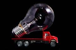 Ampoule de camion rouge Photographie stock