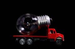 Ampoule de camion rouge Images stock