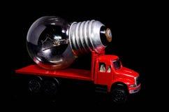 Ampoule de camion rouge Images libres de droits