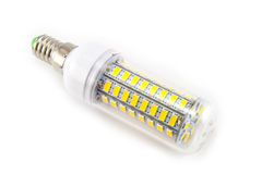 Ampoule de DEL sur le fond blanc Photos stock