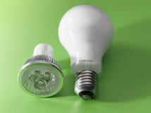Ampoule de DEL v/s photo libre de droits