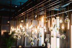 Ampoule de lidht d'Edison de vintage, plan rapproché Image libre de droits