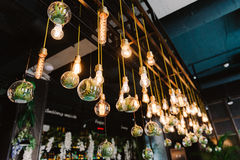 Ampoule de lidht d'Edison de vintage, plan rapproché Photographie stock libre de droits