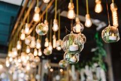 Ampoule de lidht d'Edison de vintage, plan rapproché Photo libre de droits