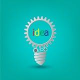 Ampoule de photo de fond avec des vitesses et des dents fonctionnant ensemble Image libre de droits