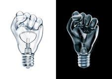 Ampoule de poing de protestation illustration stock