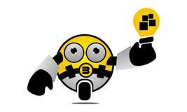Ampoule de prise de robot Images libres de droits