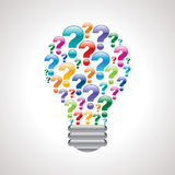 Ampoule de repère coloré de requête illustration de vecteur