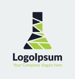 Ampoule de silhouette de logo de calibre assemblée à partir des morceaux Photo stock